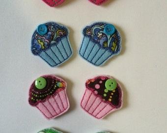 Colorful Cupcake Magnet Set of 2