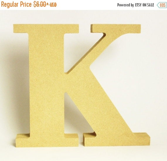 Letter k natural wood initial home decor by katerinacollection for Letter k decoration