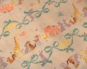 Kokka Fabric. Circus Animal Fabric. Kawaii Animal Fabric. Nursery Fabric. Japanese Fabric. Half yard.