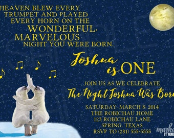 Custom You Print On the Night You Were Born Party Invitation
