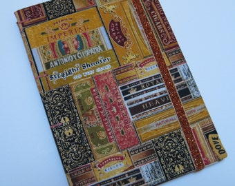 Handmade Journal - Vintage Cigar Boxes - Fabric - Lined Pages - Unique