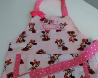 Minnie Mouse Child/Toddler Apron Personalized