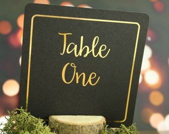 Wedding Table Numbers/ Wedding Table Decor/ Centerpiece Foiled in Gold/ Silver/Rose Gold/ Champagne Gold/Copper/Colour Foils
