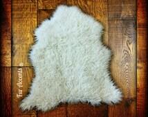 Shaggy Sheepskin Rug - The Hollister - Premium Faux Fur -  6 Colors - Designer Shag by Fur Accents USA