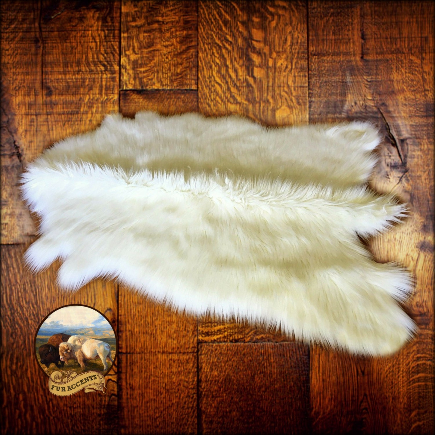 FUR ACCENTS Faux Fur Deer Skin Area Rug Shag By FurAccents
