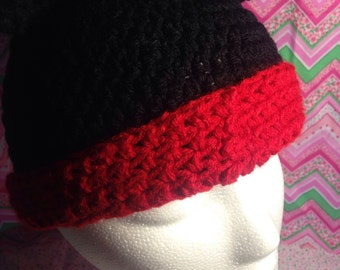 Mickey or Minnie Mouse Crochet Hats