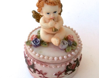 Decorative Cupid Box - Vintage Trinket Box