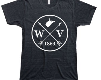 Homeland Tees Men's West Virginia Arrow T-shirt