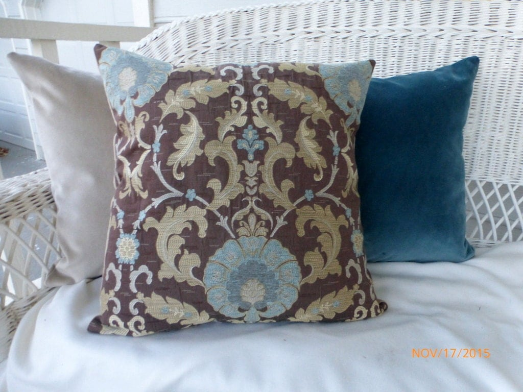 Chenille Throw Pillow Covers : Damask Pillow Covers Decorative throw pillow Chenille