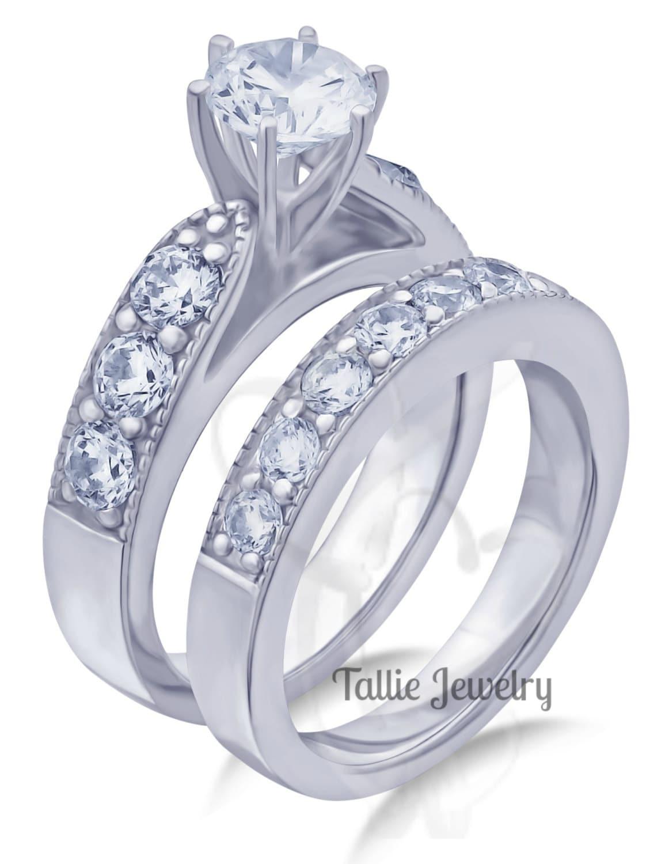 Carats Bridal Rings Sets Diamond Engagement Rings 14K Gold Wedding Bands