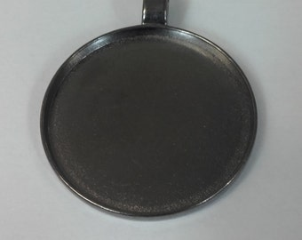 Large antique silver pendant