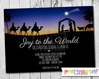 Personalized Nativity Invitation