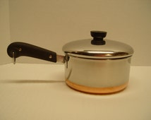 Revere Ware 2 Quart Saucepan With Lid, Pre-1968, Copper Clad