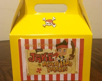 Jake the neverland pirate Birthday Favor Box
