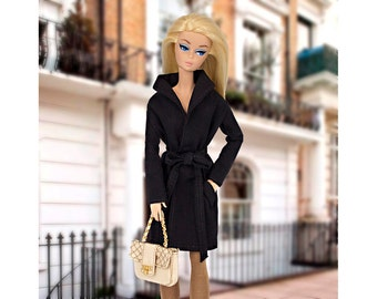 Black gabardine for Barbie and Poppy Parker