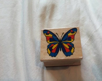 Butterfly Collectible Rubber Stamp for Scrapbooking or Card Making