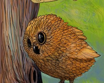 Baby Owl poster 18x24