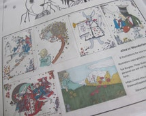 Alice in Wonderland colouring pack of 6 illustrations. Instant Download - Digital download - Hand drawn - DIY - Coloring page