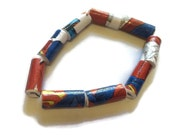 Superman Comic Book Bracelet - Comic Strip, Quirky, Unusual Jewelry, Upcycled, Superhero and Superheroes