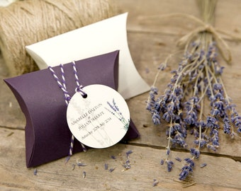 Lavender Personalised Circle Gift Tags (Set of 50)