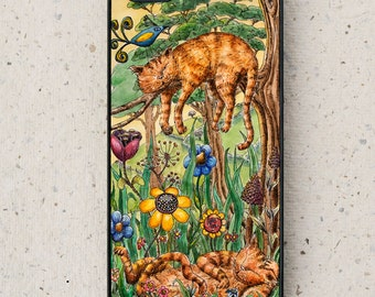 iPhone (all models) - Ginger Cats - smartphone - iPhone 4,5,6,7 Plus - Mobile - Illustration - Art - Samsung Galaxy - HTC & other models