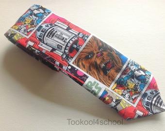 Adult mens Star Wars cartoon fabric tie ready to ship