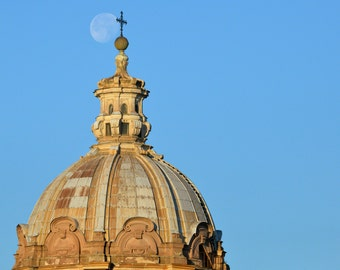 Moon over Cathedral - Rome, Italy
