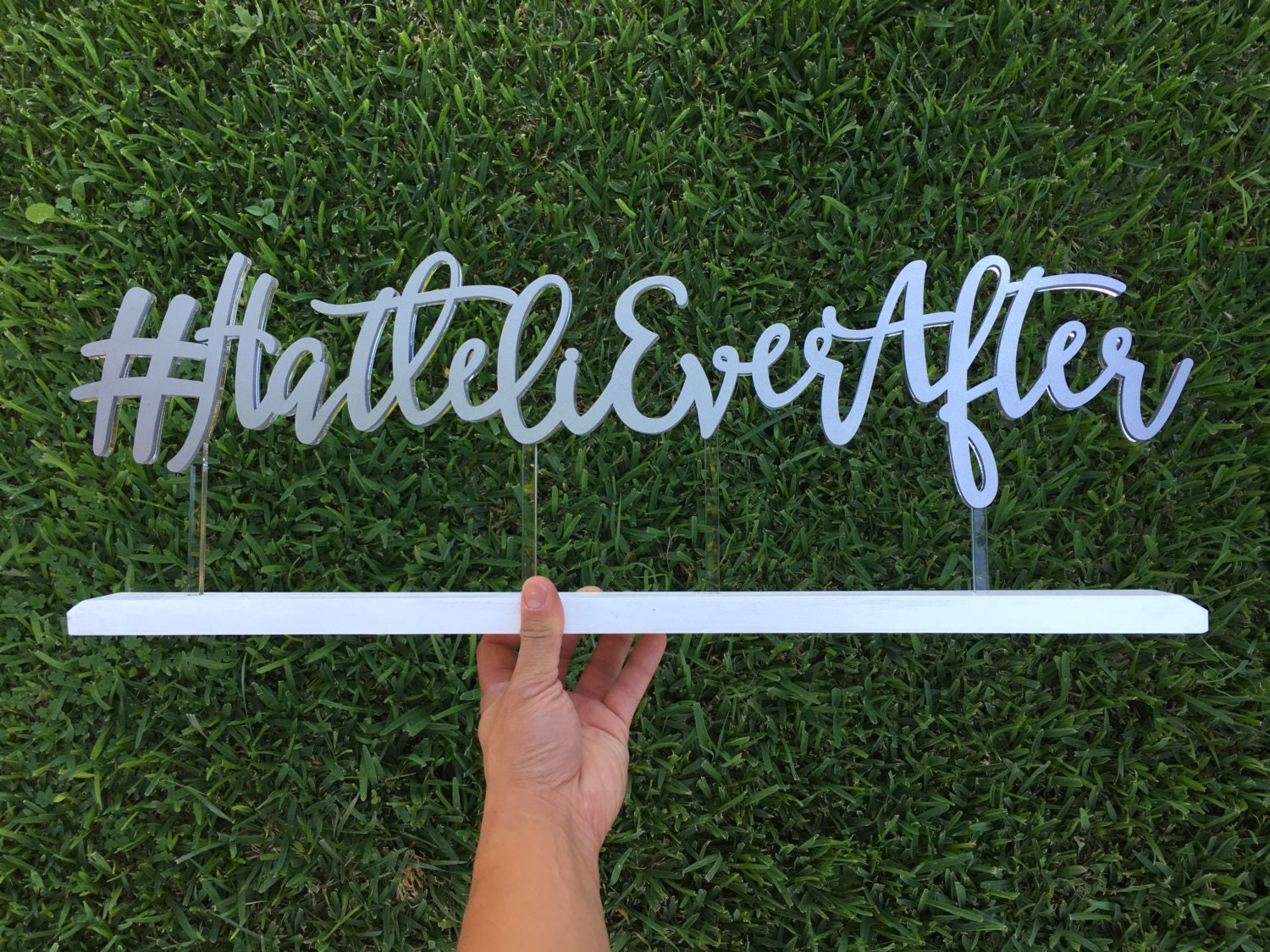 Personalized wedding hashtag sign inches wide
