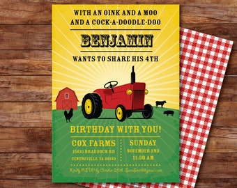 Farm/Tractor Party Invitation