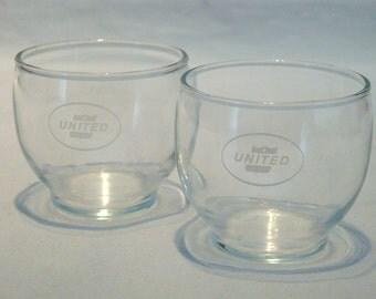 Vintage United Airlines Glasses - Set of 2