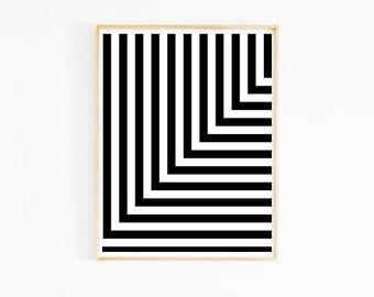 L Stripe Art Print