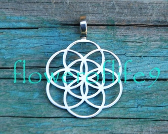 Seed of life pendant (5/8 inch) - Stainless Steel