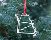 Missouri Highway Christmas Ornament