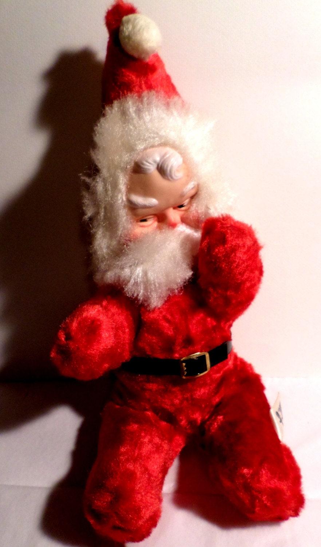 Vintage 1950s Plush Santa Claus Columbia Toy By Deliciascastle