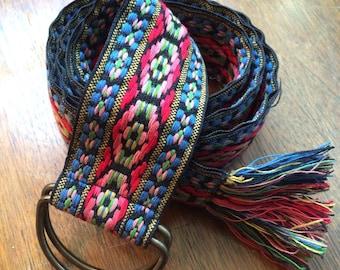 Vintage 60s Hippie Cloth Cinch Belt Kim Craftsmen