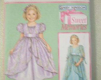 Simplicity 5077 Girls (K5 7,8,10,12,14) Daisy Kingdom dress