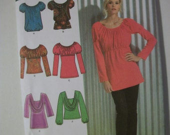 Simplicity 3682 Misses (Size H5 6-8-10-12-14) & (R5 14-16-18-20-22) knit tunic and top.  6 made easy