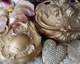 Victorian Gold Jewel Caskets