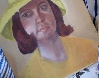Vintage Oil Painting Lady