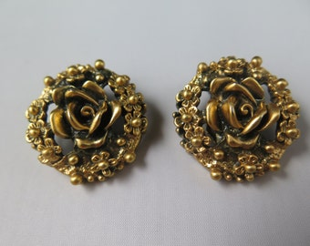 Tortolani Rose Clip Earrings