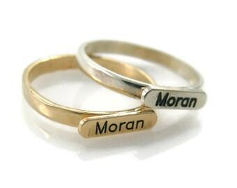 Monogram ring | Etsy