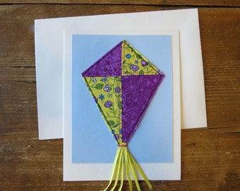 Quilted Fabric Card, Special Occation, Birthday Card