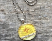 New Mexico Zia Postage Stamp Necklace