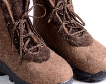 Felted boots, 100% wool,womens felted shoes,size 38.5-39 (EU),8-8,5(US)