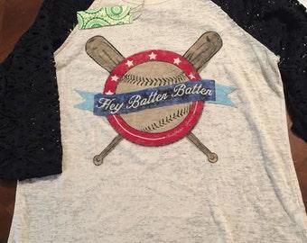 Hey Batter Batter Baseball tee