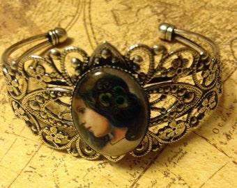 Peacock Lady Filigree Steampunk Bracelet