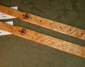 Birdseye Birds Eye Maple Miss Rose Paddles Spanking Paddle Stick Whacking  w/ Holes MA085