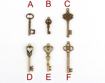 36 pcs mixed style key pendants-necklace accessories Charms pendant jewelry findings #1088