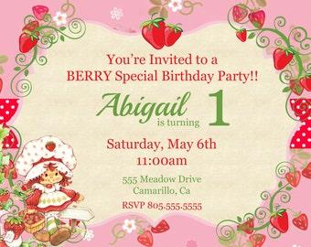 Vintage Strawberry Shortcake Invitation