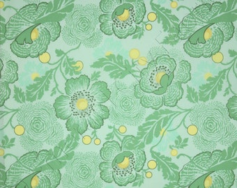 Amy Butler Fabric by the Yard Midwest Modern 2 Fresh Poppies Sky Green AB32-SKY